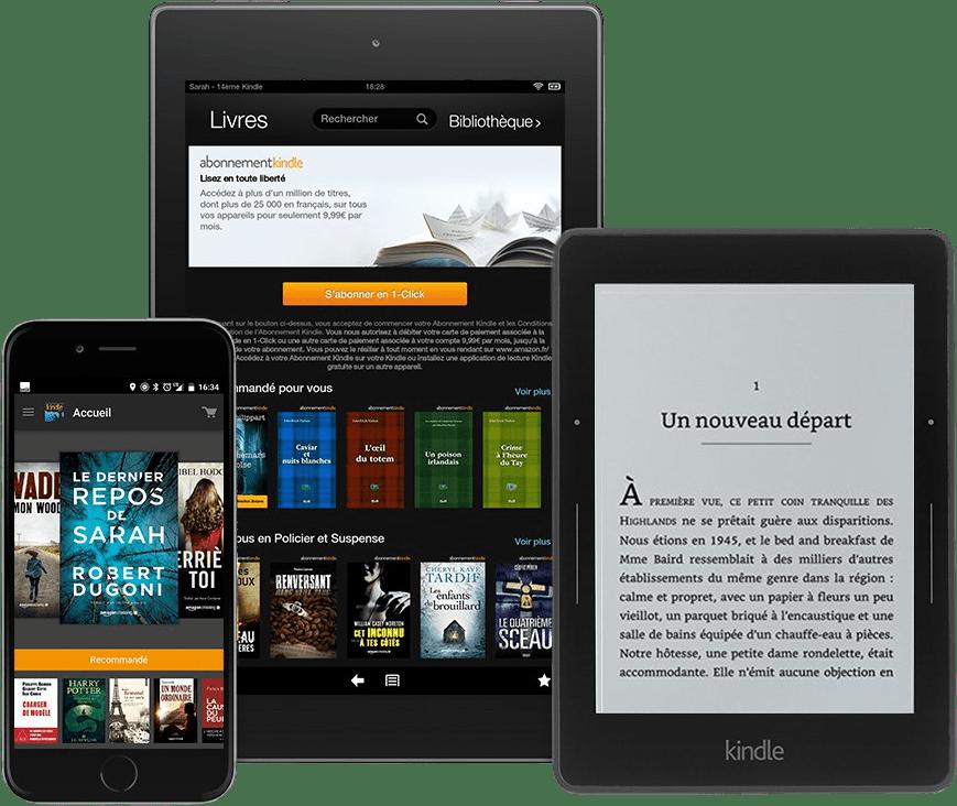 Abonnement Kindle est disponible sur l'ensemble des appareils de l'écosystème Amazon