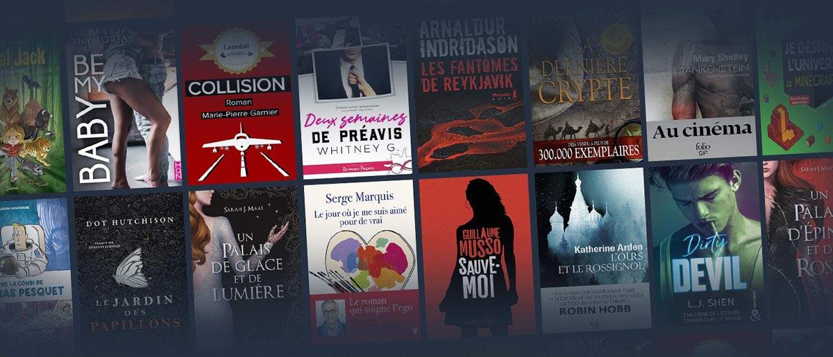 Un aperçu des livres numériques disponibles en Français au catalogue de l'abonnement Kindle