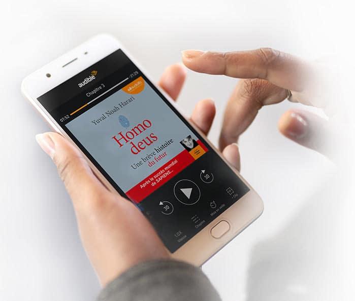 Application Audible sur un smartphone Android