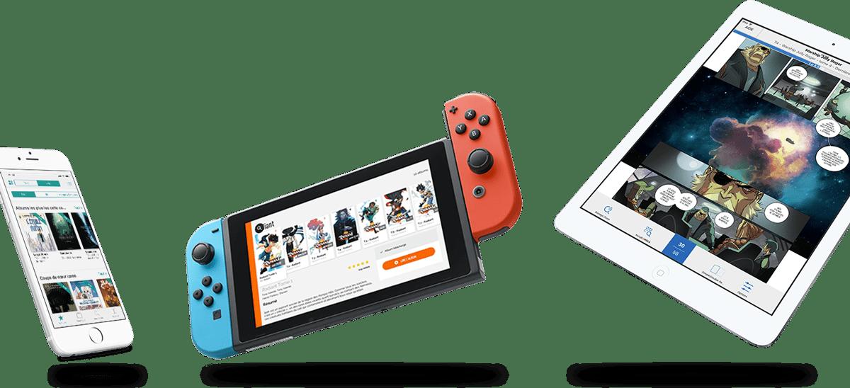 La plateforme Izneo est accessible sur smartphone, console de jeu et tablette tactile