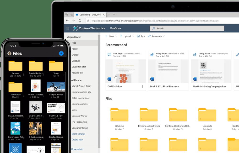 OneDrive est aussi accessible via des applications mobiles et navigateurs web