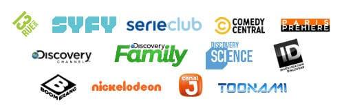 80 chaînes sont accessibles en option via les Pass SFR Play